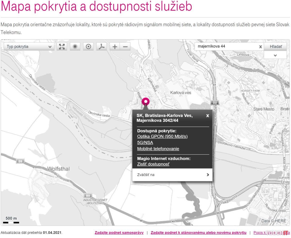 Telekom mapa pokrytia