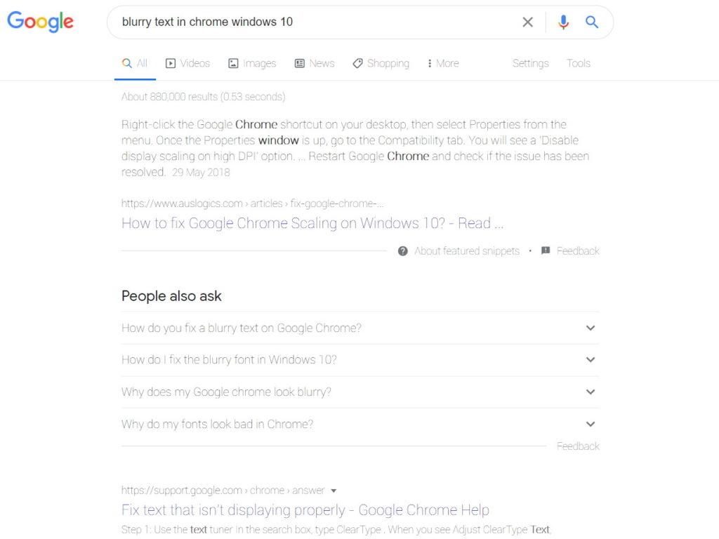 Vyblednuté a neostré zobrazenie písma v prehliadači Chrome