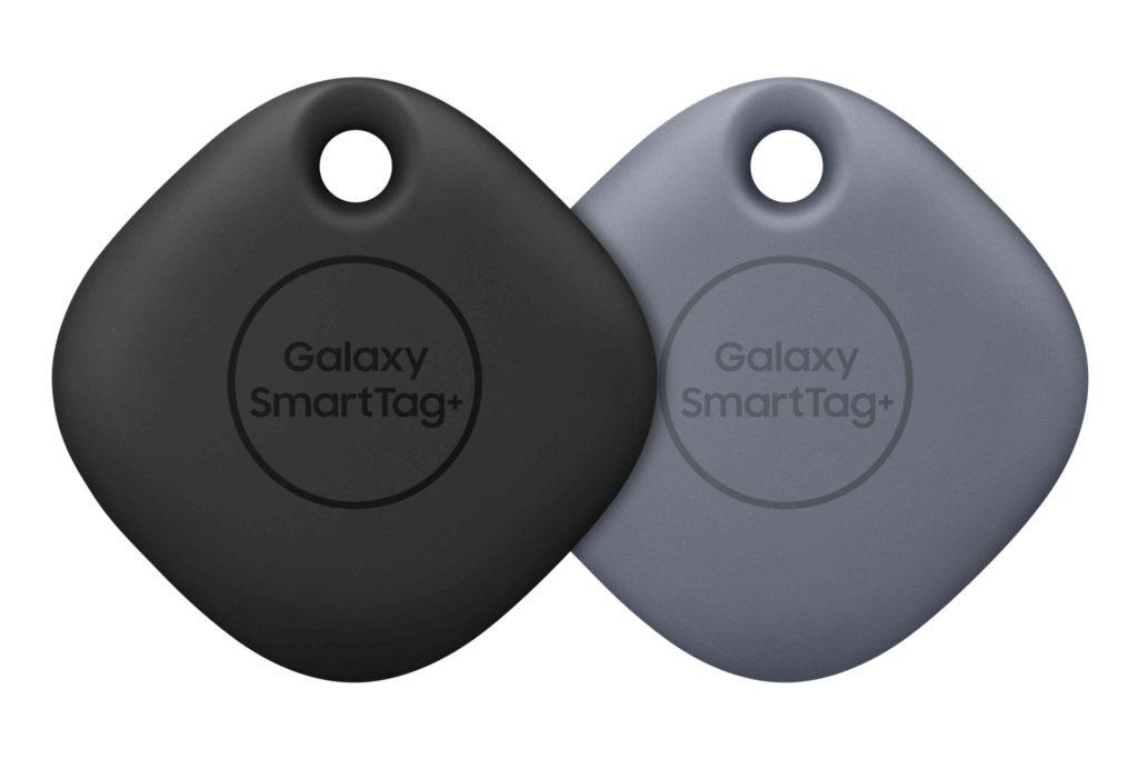 Galaxy SmartTag+ v čiernej a šedej farbe.