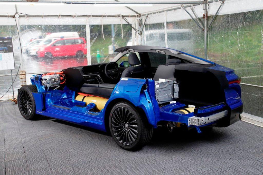 Usporiadanie komponentov vodíkového pohonu v Toyota Mirai. Zdroj: Toyota