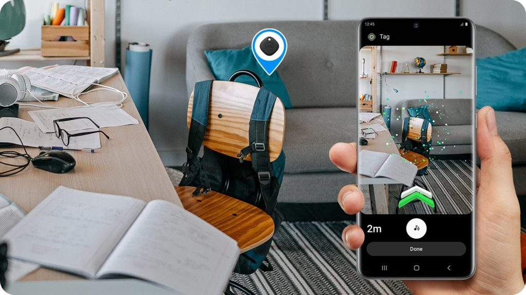 Hľadanie SmartTag+ cez virtuálnu realitu