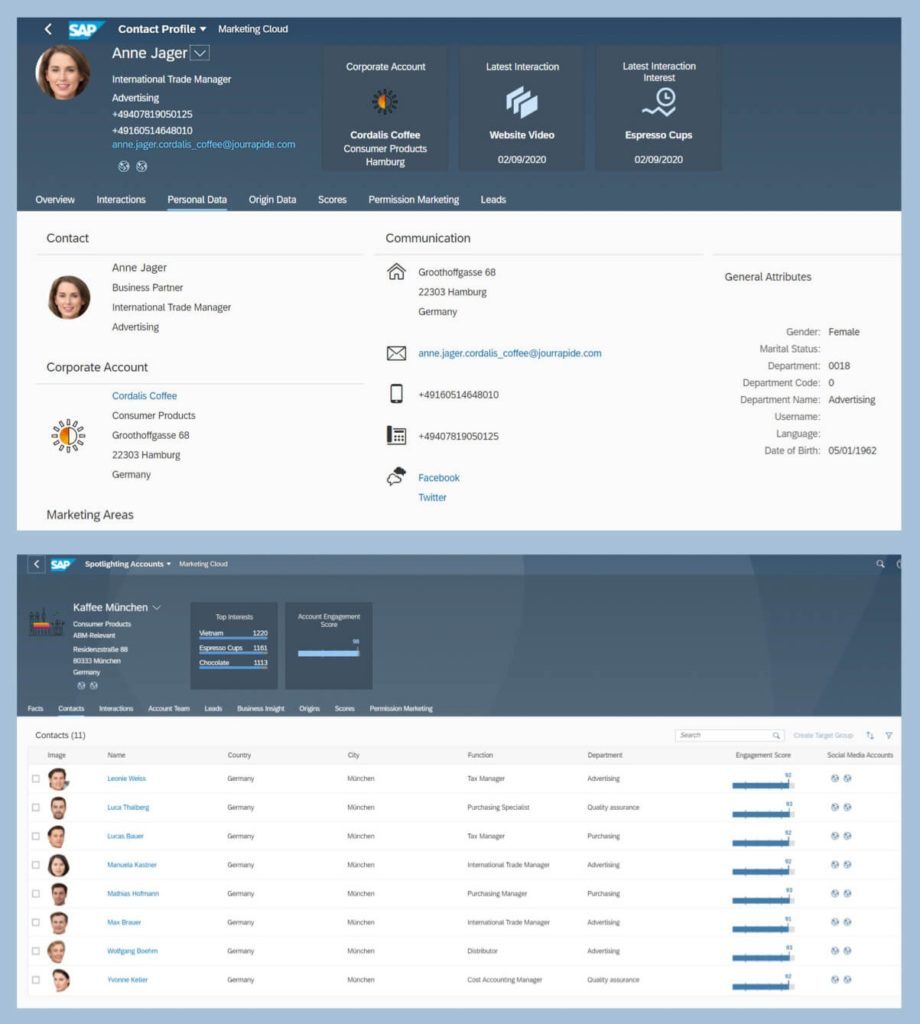 Integrácia syntetických tvárí v rámci dema podnikového softvéru firmy SAP (môže byť menšie)