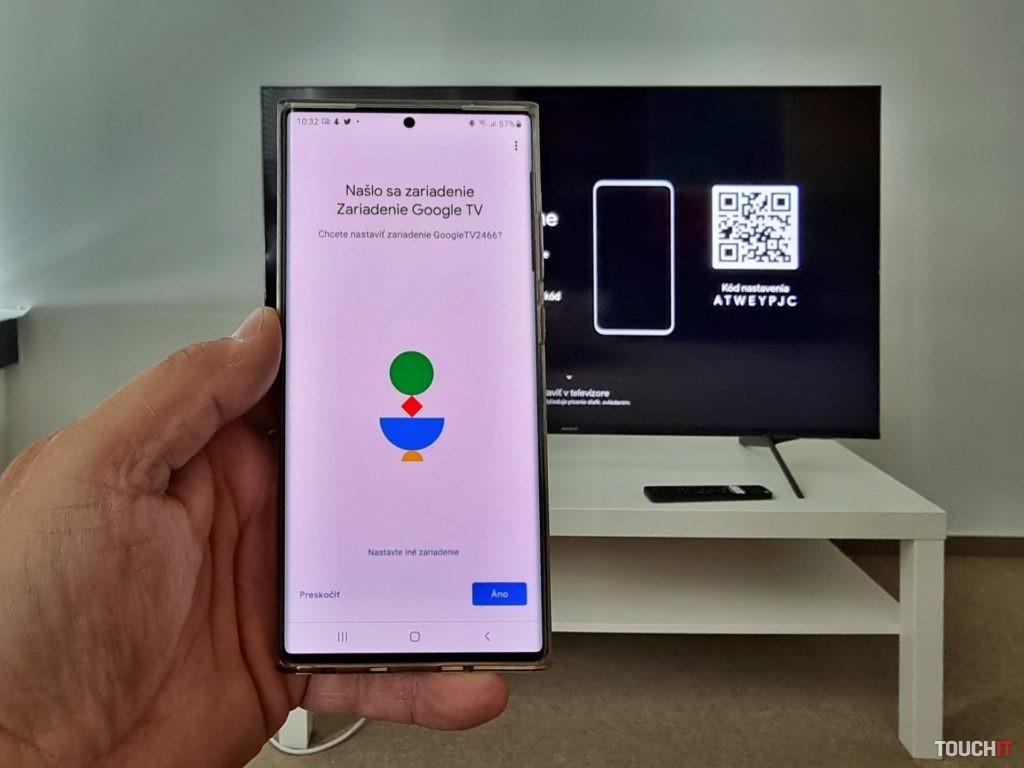 načítanie QR kódu v Google Home.