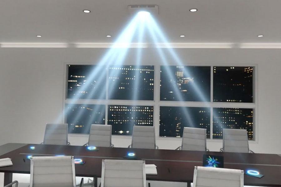 Takto je možné bezdrôtovo nabíjať smartfón počas schôdzky z centrálneho zdroja.