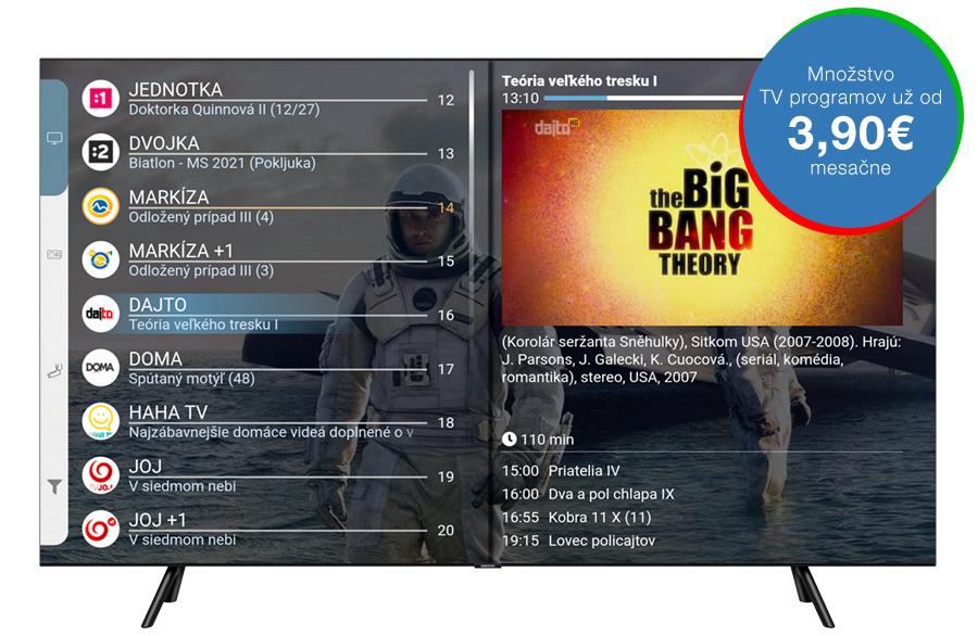 Programový sprievodca aplikácie AntikTV na televízoroch Samsung