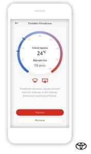 Aplikácia Toyota MyT.