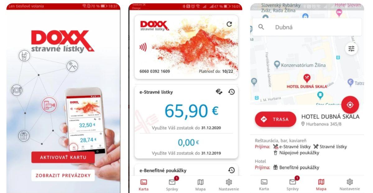 Karta DOXX v mobile