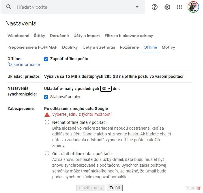 Takto bude fungovať Gmail aj bez internetu, avšak iba na pozeranie správ
