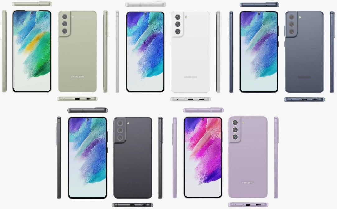 Samsung Galaxy S21 FE rendery a farby