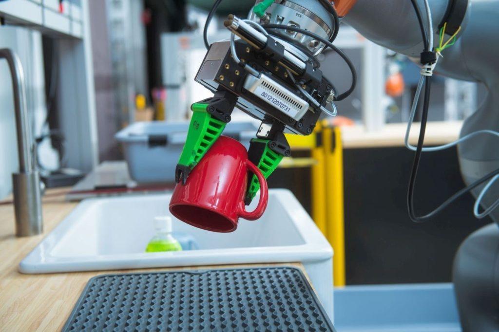 Robot Tri Kuka na prenos krehkých predmetov.