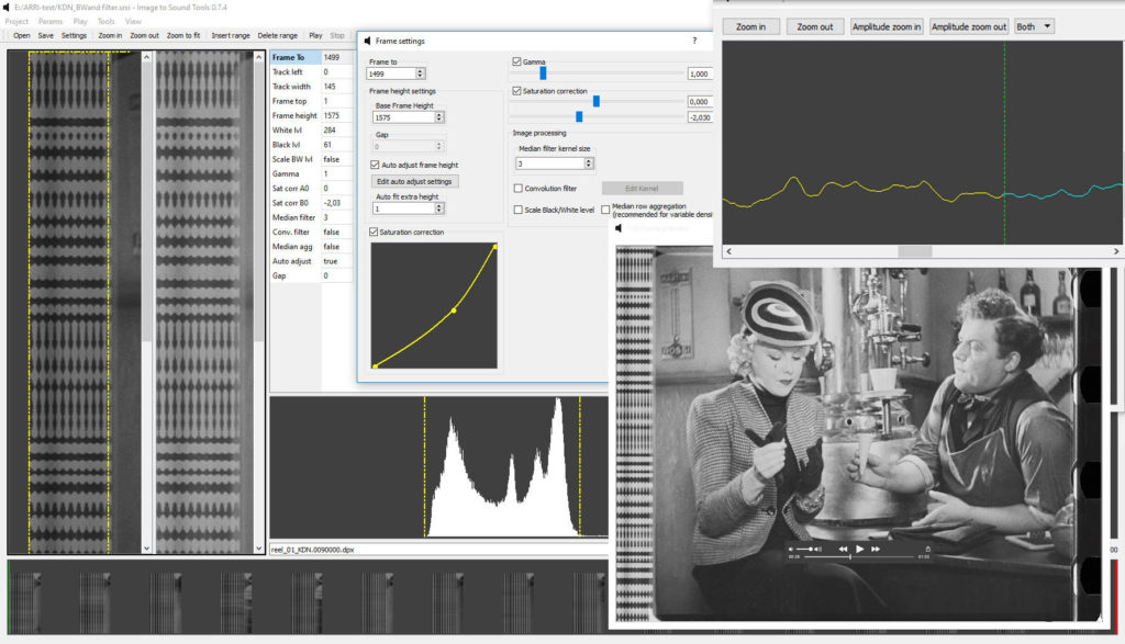 Obrazovka s dátovým výstupom skenerov Arriscan