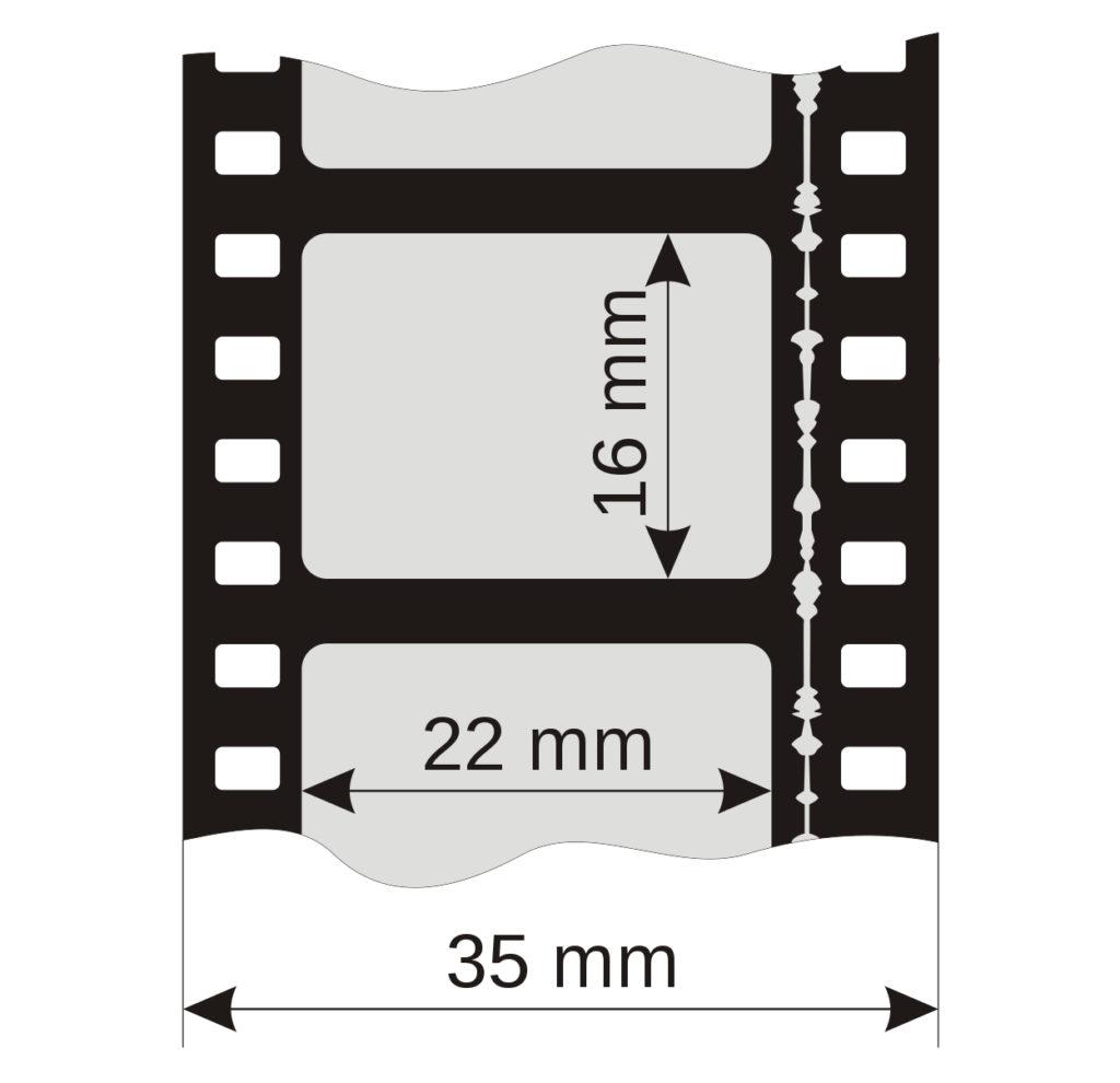 Rozmery okienka 35mm filmu