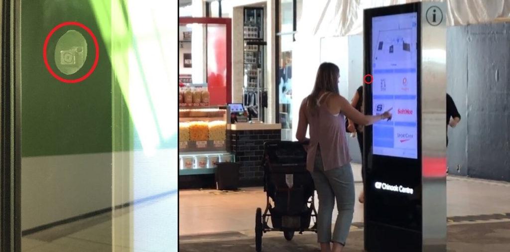 V rámci obchodného centra Chinook boli priemyslové kamery doplnené o smartfónové kamery zabudované do okrajov pomocných informačných tabúľ, na presnejšiu identifikáciu