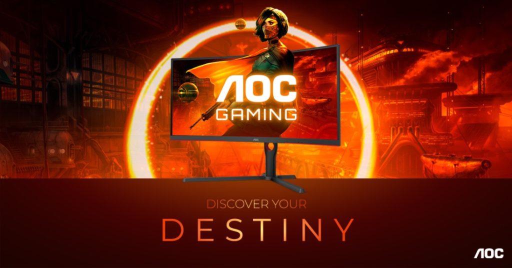 Produktová řada AOC GAMING G3 vás ponoří do hry: Zakřivení 1000R, 165 Hz, 1 ms