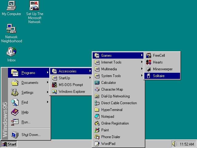 Ponuka Štart vo Windows 95 predstavovala veľkú revolúciu
