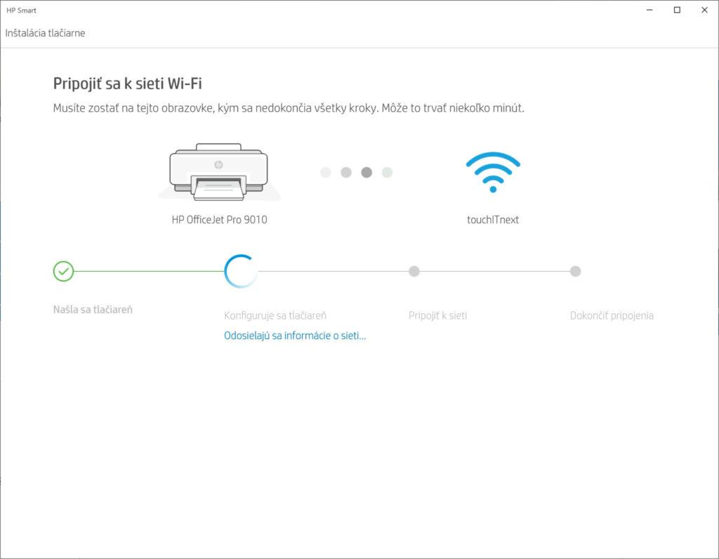 Inštalačný proces je automatický a údaje o Wi-Fi sa prenesú bez potreby ručne ich zadávať cez displej zariadenia