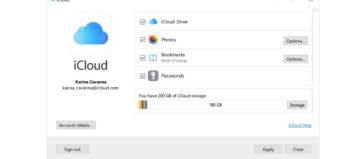 iCloud pre Windows