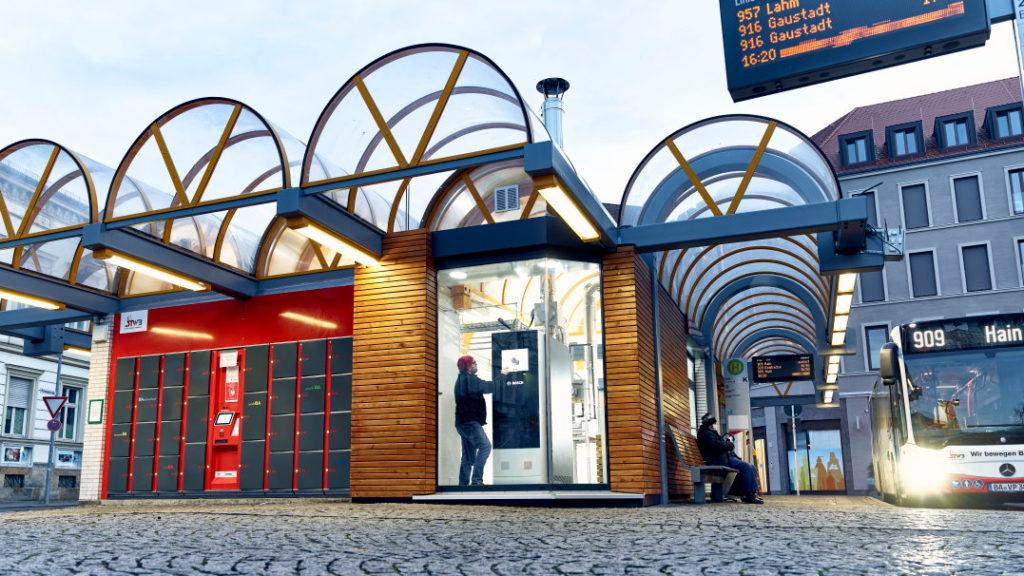 Mikroelektráreň s palivovým článkom zásobuje autobusovú stanicu v meste Bamberg