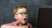 Počítač dieťa chlapec