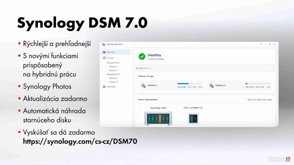 Hlavné vlastnoisti Synology DSM 7.0