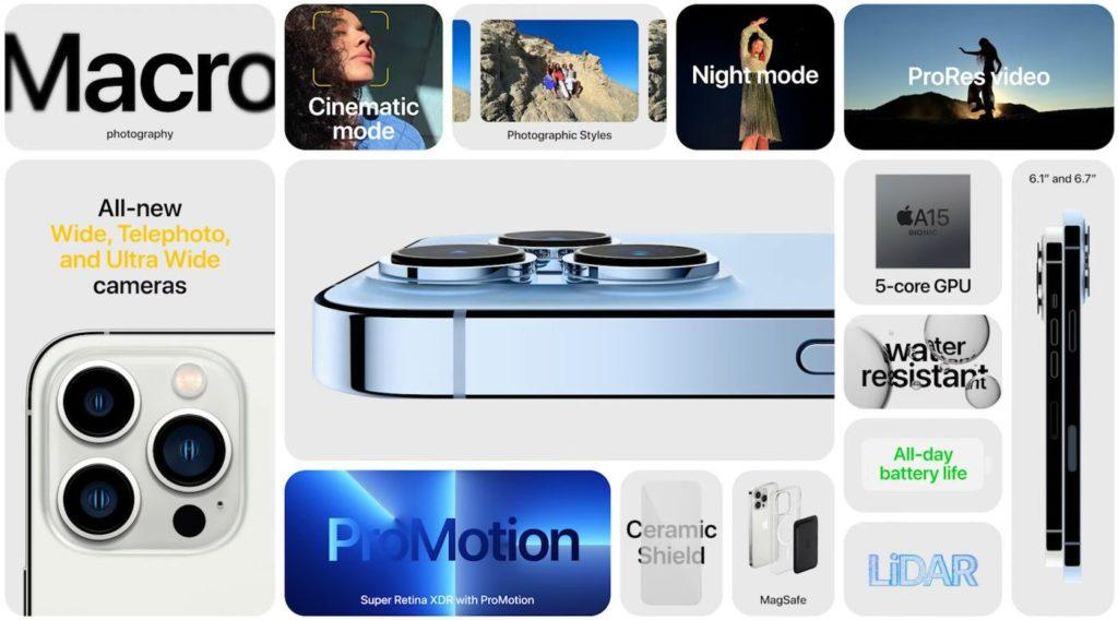 iPhone 13 Pro v kocke