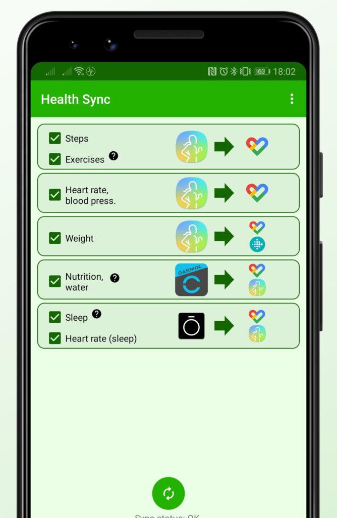 Aplikácia Health Sync