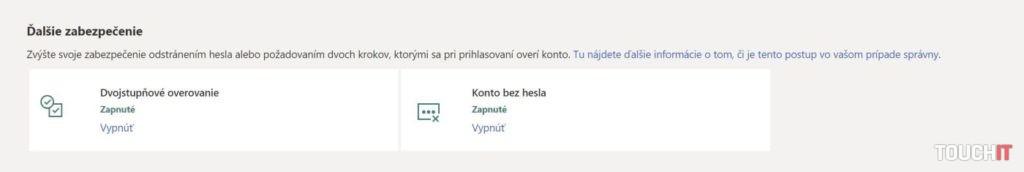 Microsoft konto bez hesla