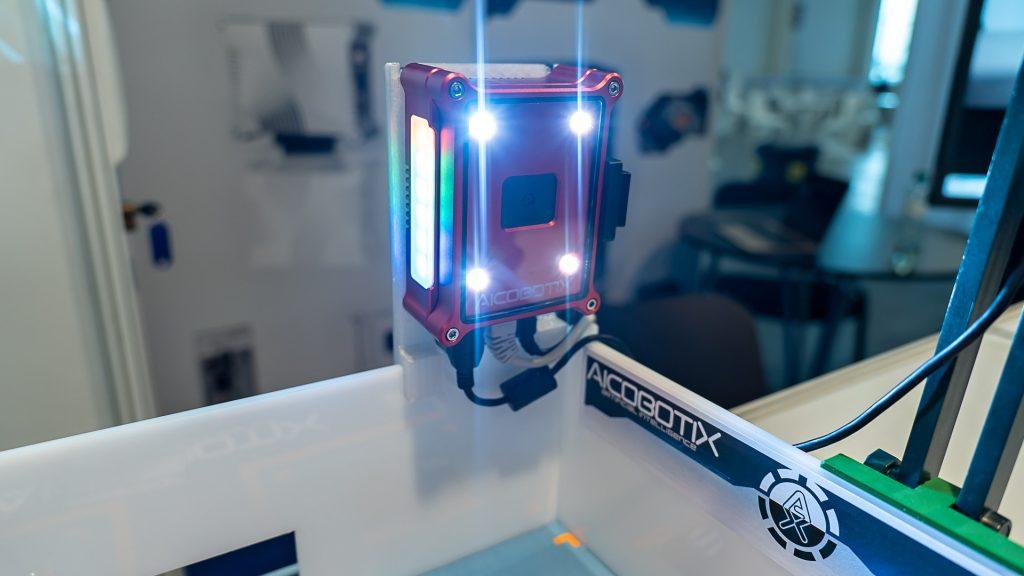 Detail kamery vytvorenej vo firme AicobotiX