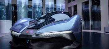 Koncept vodíkového auta MH2