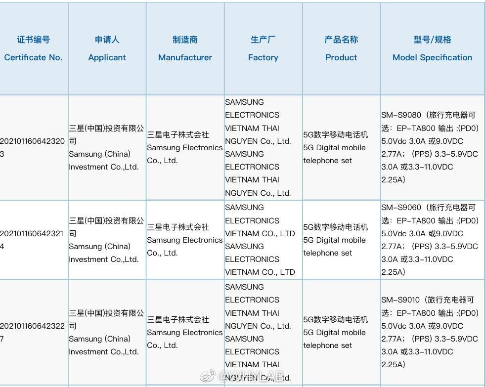 Samsung Galaxy S22 nabijanie